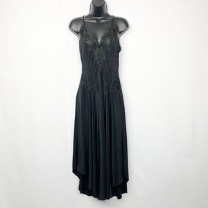 Vintage Christian Dior Black Lace Night Gown Small